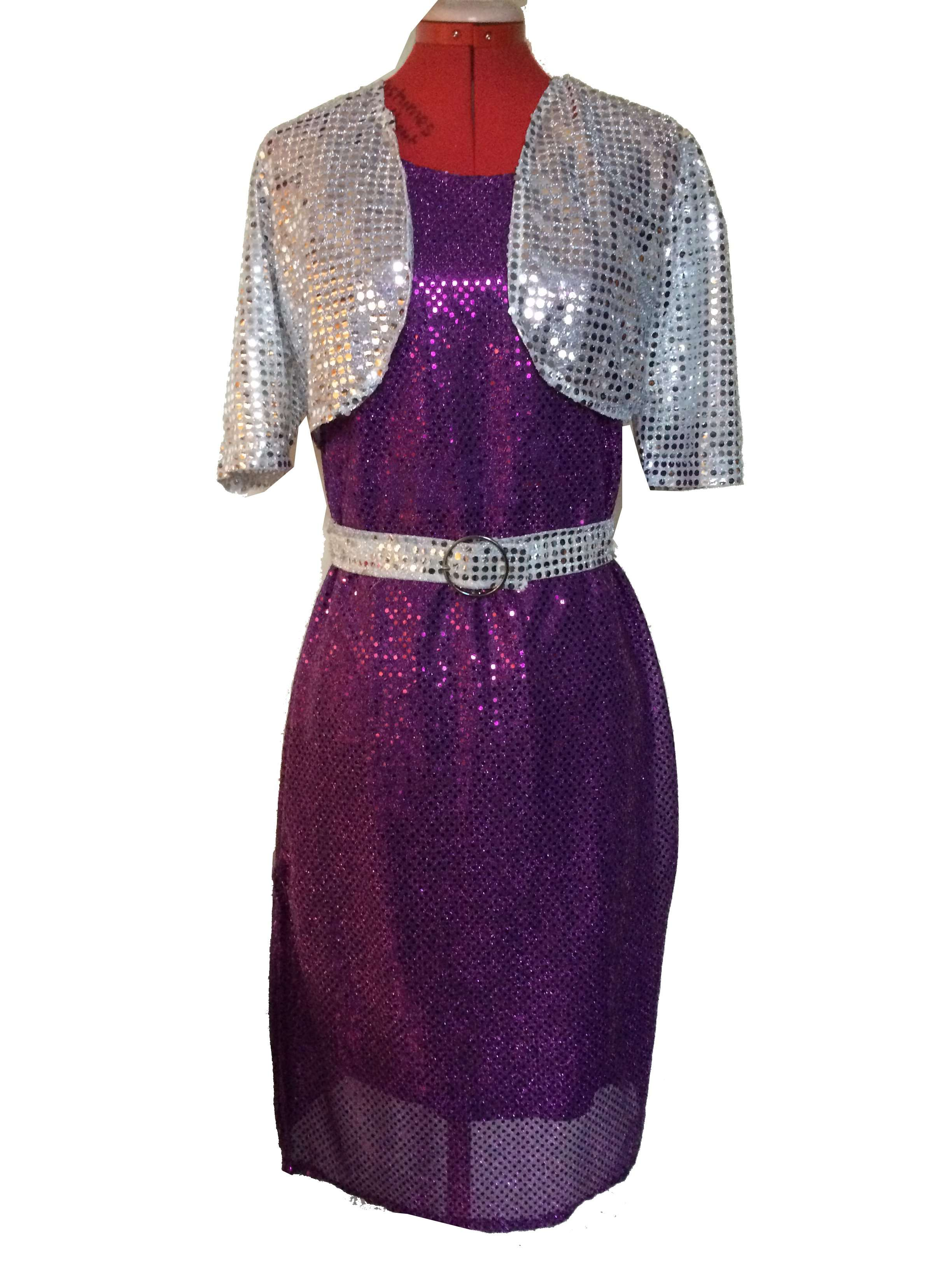 Purple Glitzy Dress Costumes Without Drama