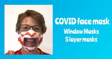 COVID Face Mask - Window Masks 5 Layer Masks